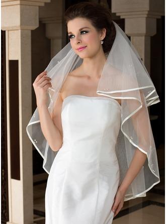 Uno capa Yema del dedo velos de novia con Con lazo