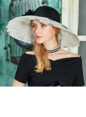 Bayanlar Güzel Patiska Ile Tüy/Çiçek Disket Şapka