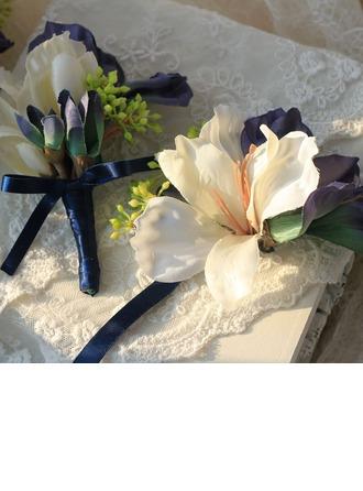 Lovely Kankaalla/Nauha Ranne kukkakimppu/Boutonniere -