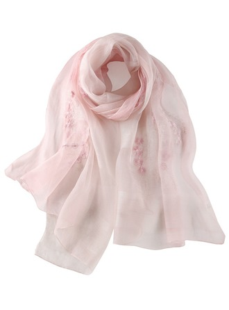 Neck Scarf Embroidery Floral Scarf