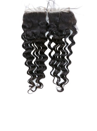 """4""""*4"""" 5A Virgin/remy Deep Human Hair Closure (Sold in a single piece) 35g"""