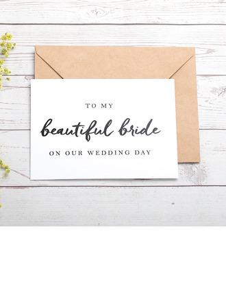 Невеста Подарки - Классический бумага Свадебная открытка
