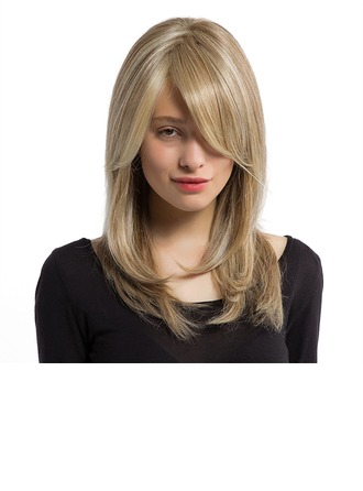 Straight Mid-Length Synthetic Wigs