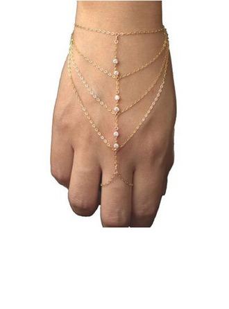 Niza Aleación/Diamantes de imitación Señoras' Pulseras