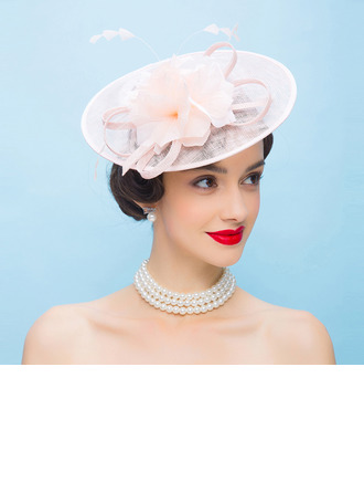 Ladies' Glamourous/Eye-catching Cambric With Feather Fascinators/Kentucky Derby Hats/Tea Party Hats