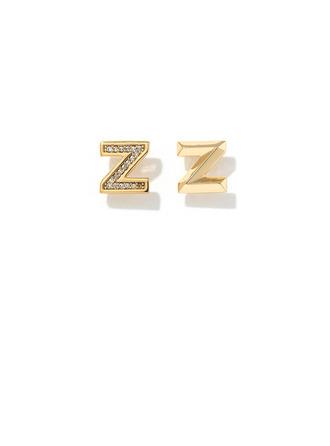 Personalizado Senhoras Cobre/Zirconia cúbico com Rodada Zirconia cúbico Brincos Para Ela