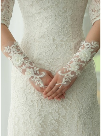 Lace Opera Length Bridal Gloves