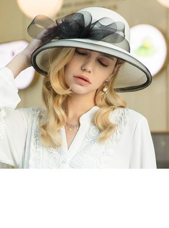Damen Besondere/Elegant/Ins Auge Fallend Polyester mit Tüll Schlapphut