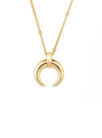 18k Gold Plated Silver Moon Pendant Necklace - Christmas Gifts