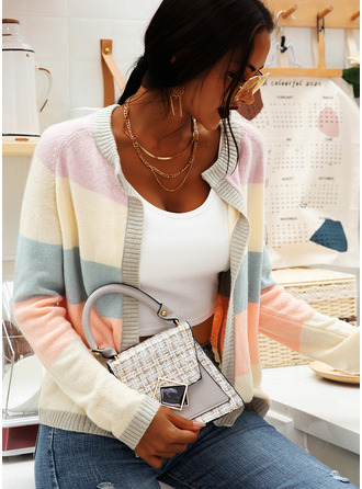 Casual Color Block Chunky knit Sweaters