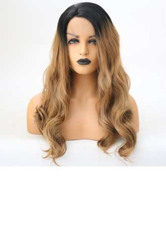 Deep Wave Syntetisk Lace Front Parykar 350g