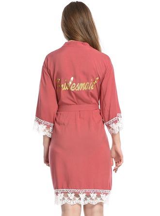 Personalizado Algodón Novia Dama de honor Batas con estampado de purpurina