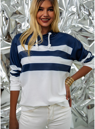 Striped Manches Longues Sweat-shirt