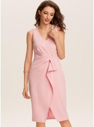 Skede V-hals Polyester Mode kjoler