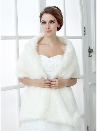 Faux Fur Huwelijk Wrap