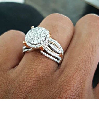 Shining Alloy With Rhinestone Women's Fashion Rings (Sold in a single piece)