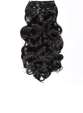 Löysä Synteettiset hiukset Clip in -hiustenpidennykset 7pcs 150g