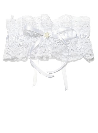 Elegant Satin Lace With Ribbons Wedding Garters
