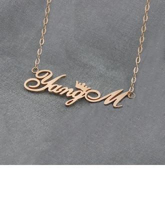 Individualisiert Unisex heißeste Versilbert/Vergoldete Name Halsketten Freunde/Braut