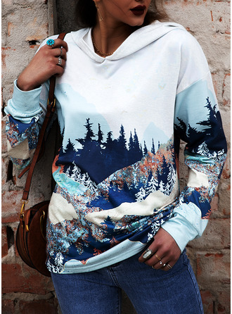 Print Forest Long Sleeves Hoodie (1001253836)