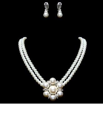 Elegante Lega/Perla con Strass Signore I monili