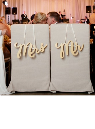 """Mr. & Mrs."" Elegante De madeira wedding Registe-"