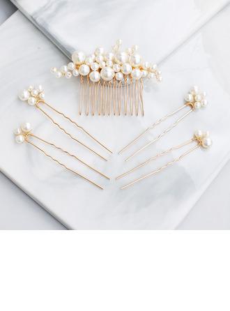 Abbigliamento donna Di faux perla Pettine & clip di capelli (Set di 5)