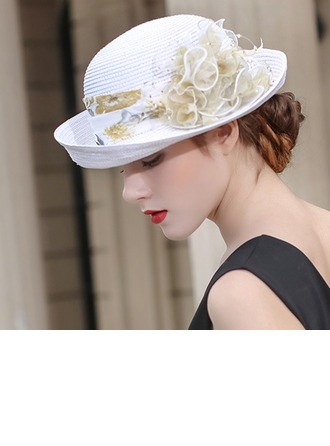 Ladies' Beautiful/Fashion/Glamourous Raffia Straw With Flower Beach/Sun Hats