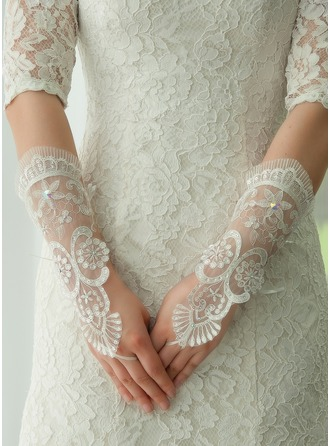 Lace Opera Length Bridal Gloves