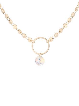 Nizza Kristall/Kupfer Halsketten Freunde/Brautjungfern/Blume Mädchen