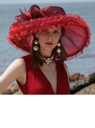 Sonar Naisten Loistokkaat Organzanauha jossa Feather Levyke hattu/Kentucky Derbyn hatut/Tea Party Hatut