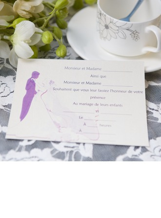 Bride & Groom Carte plate Cartes d'invitations (Lot de 50)