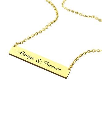 Unique Alloy Couples' Fashion Necklace