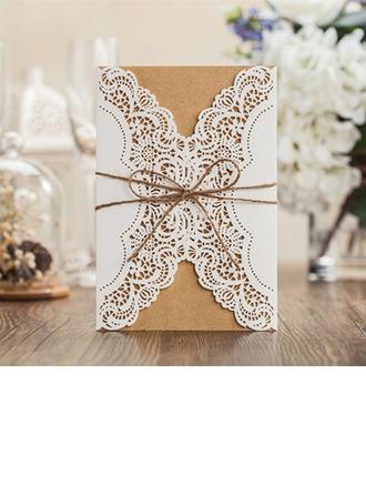 Personlig Klassisk stil/moderne stil Gate-Fold Invitasjonskort/Bursdagskort/Svar Kort/Takkekort/Gratulasjonskort (Sett Av 50)