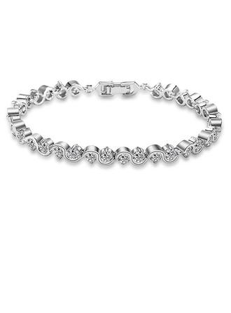 Damen Attraktiv Kupfer/Zirkonia Zirkonia Armbänder Ihr