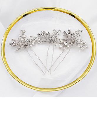Bayan Şık Alaşım Saç Tokaları Ile Yapay elmas (3 Set)
