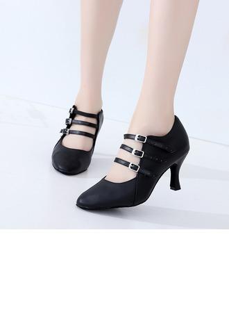 De mujer Piel Tacones Sala de Baile Swing zapatos de personaje Zapatos de danza