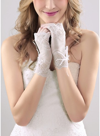 Nylon Wrist Length Bridal Gloves