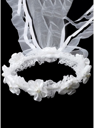 Imitation Pearls With Lace/Rhinestones Headbands