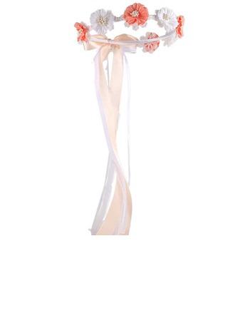 Satin/Spitze mit Faux-Perlen/Blume Blumen-Stirnband