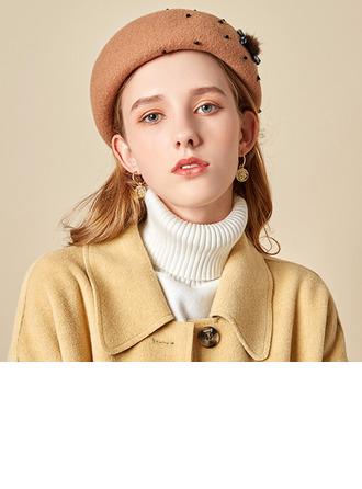 Dames Glamour/Charme/Romantique Coton Béret Chapeau