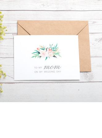 Regalos De La Novia - Elegante papel Tarjeta del día de boda