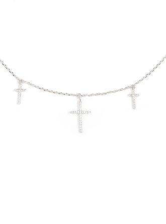 Sterling Silber Religiös Kreuz Kreuz Halskette
