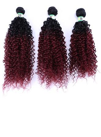 Rizado Pelo sintético Postizo de cabello humano (Vendido en una sola pieza) 70g