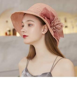 Ladies' Exquisite/Hottest Organza/Raffia Straw With Silk Flower Beach/Sun Hats/Tea Party Hats