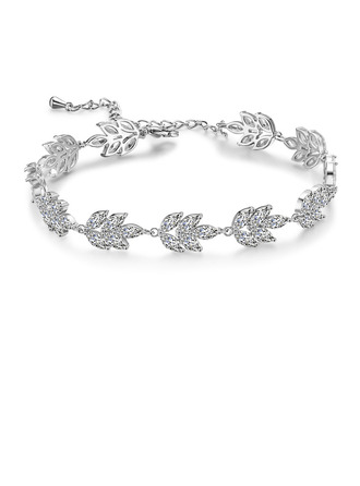 Dames Laat vormige Koper/Zirkoon Armbanden