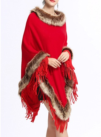 Kaldt vær Strikking Poncho