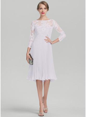 Vestidos princesa/ Formato A Amada Coquetel Tecido de seda Vestido para a mãe da noiva com Plissada