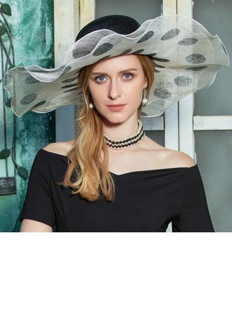 Dames Mode/Romantische/Wijnoogst Batist Slappe Hat/Kentucky Derby Hats
