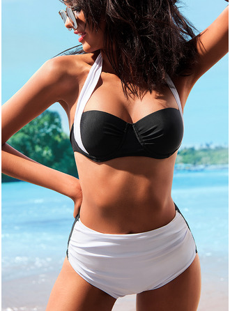 Bikinis Polyester Low Waist Women's Yes Swimwear